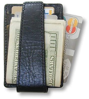 SG-105 DeepPocket Leather Money Clip Wallet, Top Grain Cowhide with SeeId