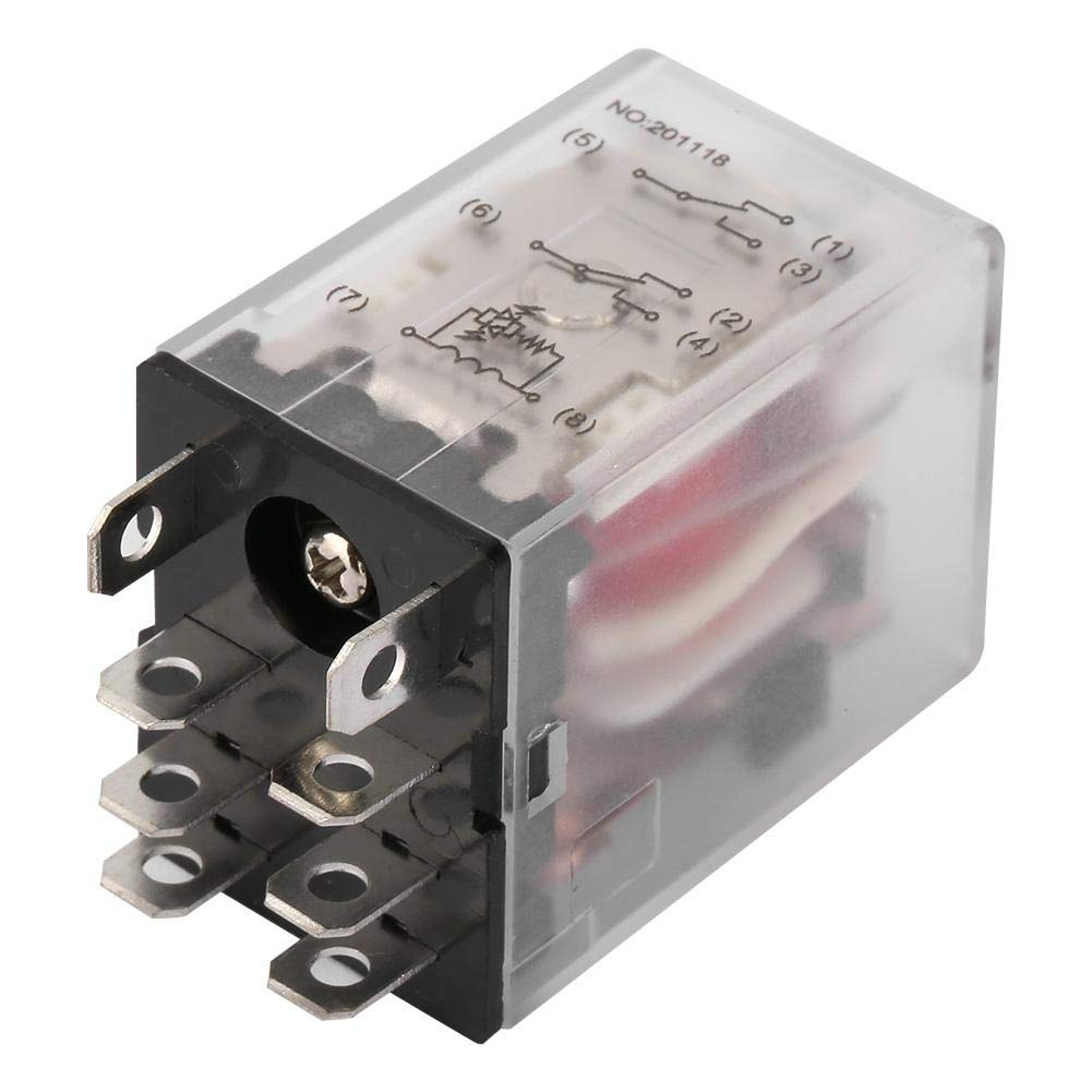 Intermediate Relay, 8 Pin 10A Mini Power Intermediate Relay Electromagnetic Relay 220VAC