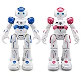 1 Set Remote Control RC Robot, JJRC CADY WINI&WIDA Smart Programming Gesture Sensing Robotics Humanoid Robots Kit Toys Present For Kids Preschooler Entertainment,by ECLEAR - Blue & Pink