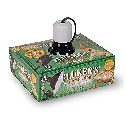 Fluker's 27005 Repta-Clamp Lamp, Ceramic with Dimmable Switch, 5.5 5.5 Fluker' s SFK27005