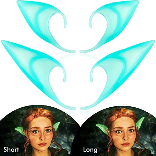 INCOK Luminous Elf Ears Cosplay Accessories - Pixie Soft Glow in The Dark Fairy Ear Tip ()