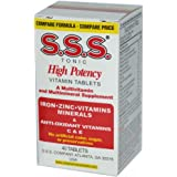 S.S.S. Tonic High Potency Multivitamin And Mineral Supplement Tablets - 40 Tablets