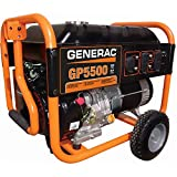 5000 Watt Portable Generator - Generac 5939R GP Series 5,500 Watt Portable Generator (Renewed)