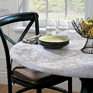 Round Table Cover - Green Marble
