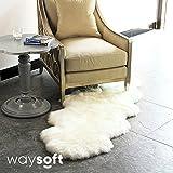 WaySoft Genuine New Zealand Sheepskin Rug, Luxuxry