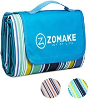 ZOMAKE Picnic Blanket Waterproof Portable Oversized, Beach Mat Sand Free for Outdoor