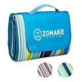 ZOMAKE Picnic Outdoor Blanket with Waterproof Backing, Portable Machine Washable Oversized Mat for Beach,Camping,Park,Music Festivals (80