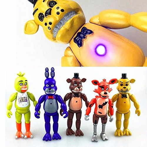 Fun Funko Five Nights at Freddy's Action Figures Doll Toy Set For Kids Gift 5Pcs (Rorschach Hat)
