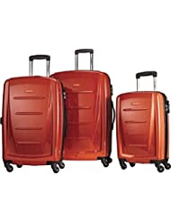 Samsonite Luggage Winfield 2 Fashion HS 3 Piece Spinner Set Orange
