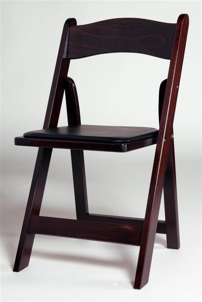 Amazon com  Wood Folding Chair in Mahogany w Padded Seat   Set of 4   Kitchen   DiningAmazon com  Wood Folding Chair in Mahogany w Padded Seat   Set of  . Padded Folding Chairs Wood. Home Design Ideas