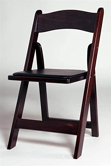 Wonderful Padded Wood Folding Chairs In Mahogany W Seat Set Of Throughout Decorating