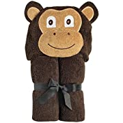 Yikes Twins Child Hooded Towel - Brown Monkey