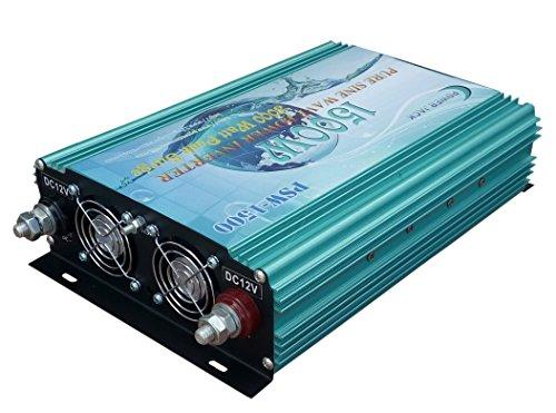 3000W peak 1500W Pure Sine Wave Power Inverter DC 12V to AC 110V 60Hz, Car power tool