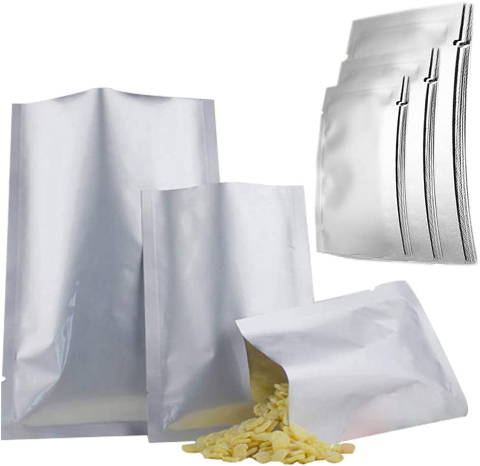 Conprasim 30pcs 3 Sizes Mylar bags for food storage, Mylar Aluminum Foil Flat Heat Sealing Bags Vacuum Pouch for Long Term Food Coffee Tea Beans Storage (4 mil 6 x 9 Inch, 8 x 11 Inch, 10 x 14 Inch)