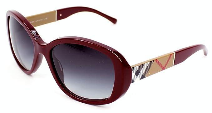 Amazon.com: Burberry anteojos de sol be4159 34038 G Burdeos ...