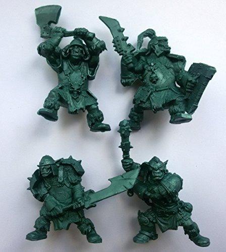 Russian Miniatures - Iron Orcs Uruktag 54 mm 1/32 - 4 Fantasy Figures Tehnolog Fantasy Battles Russian Toy Soldiers