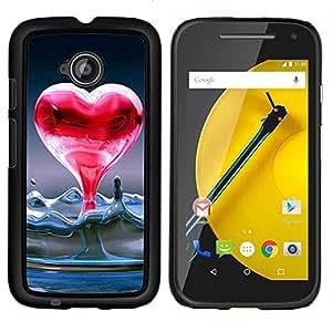 EJOOY---Cubierta de la caja de protección para la piel dura ** Motorola Moto E2 E2nd Gen ** --Corazón de agua líquida