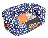 Cheap TOUCHDOG 'Lazy-Bones' Rabbit-Spotted Premium Easy Wash Fashion Designer Couch Pet Dog Bed Lounge, Medium, Ocean Blue, Orange
