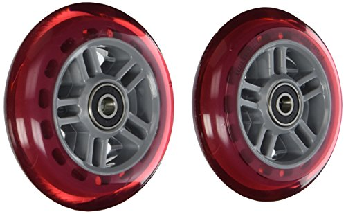 Razor Scooter Replacement Wheels Set with Bearings - Red