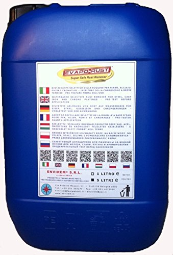 5 opinioni per EVAPO-RUST®- 5 Lt.- Distaccante selettivo della ruggine a base acqua per ferro,