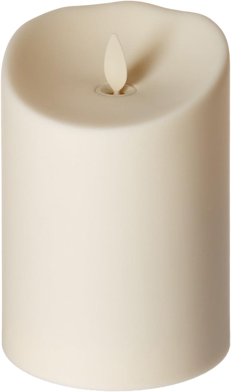 Luminara Flameless Outdoor Pillar Candle, Unscented Ivory 5 in.