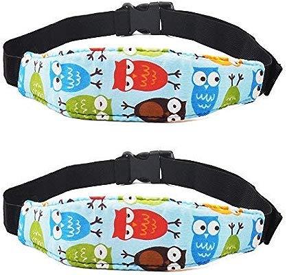 UK Adjustable Child Kids Safety Car Seat Travel Sleep Aid Head Strap Support ~