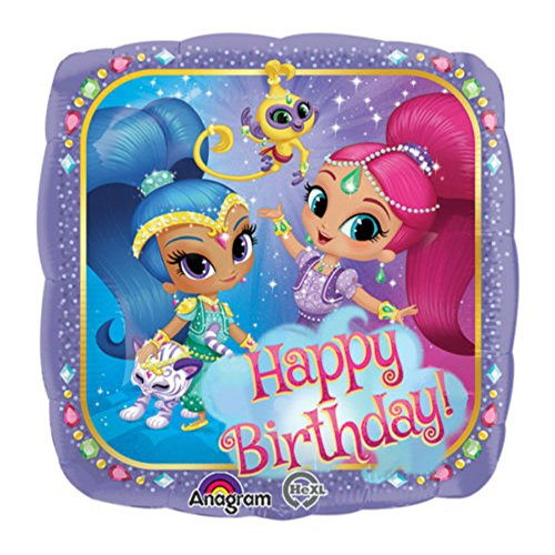 "18"" Shimmer and Shine Happy Birthday Mylar Balloon Party Decorations Supplies from Unbranded"