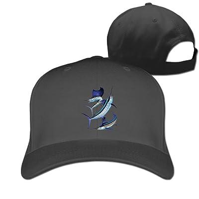 DMN Unisex Harvey Marlin Baseball Hip-Hop Cap Vintage Adjustable Hats For Women and Men Black,One Size