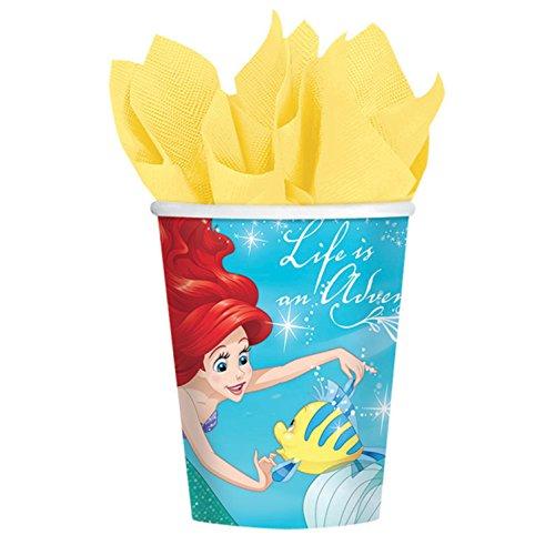 maid Sparkle 9oz Paper Cups (8ct) (Little Mermaid 9 Oz Cups)