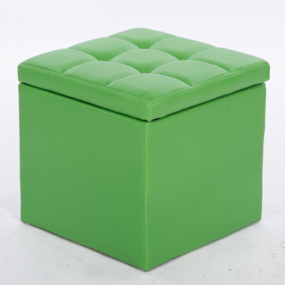Green Byx- Fitting Room Storage Stool shoes Bench Foyer Sofa Stool Living Room Bedroom Dressing Table Shopping Mall shoes Store Footstool -Footstool with Storage (color   Brown)