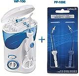 Waterpik Ultra Dental Water Flosser WP-100 with 6 Unique Tip & 10 Pressure Settings Plus Bonus Pack of 2 Replacement Pik Pocket Tips PP-100E