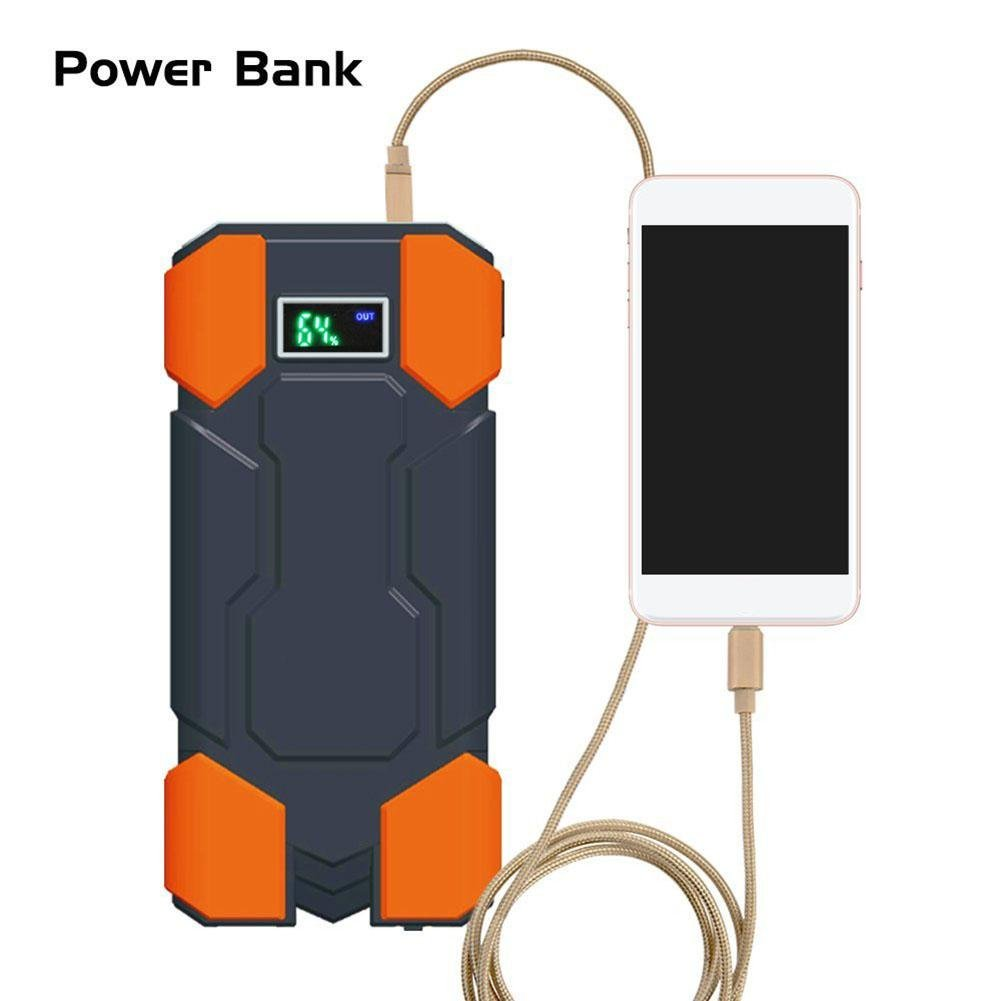 Greencolorful Car Jump Starters,Emergency Car Battery Charger,18000mAh 12V Starting Device,Portable 2USB SOS Light Mobile Power Bank Car Charger For Car Battery Booster LCD digital display