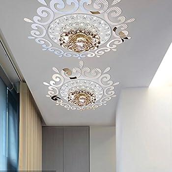 Top ceilling mirror wall sticker , top lighting the ceiling Chandelier around decorative mirror frame sticker ,70x70cm DIY mirror wall sticker