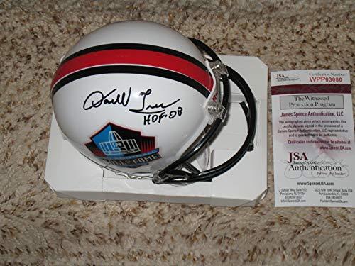 (Darrell Green Washington Redskins Autographed Hall of Fame Mini Helmet JSA Witness COA)