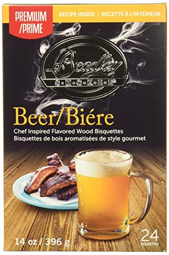 BRADLEY SMOKERS Smoker Bisquettes, Beer, 24 Pack ()