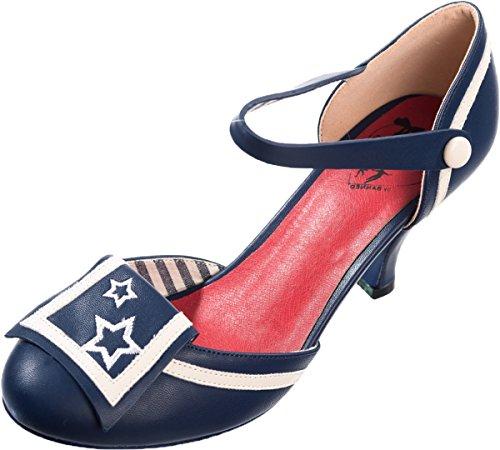 Dancing Days Damen Schuhe Beaufort Spice Sterne Sailor Pumps Geschlossen   Amazon.de  Schuhe   Handtaschen 74ab308f00