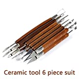 Tools Hand - 6pcs Clay Sculpting Tool Set Carving Hand Cutter Knife Smoothing Polymer Modeling Carved Wood Handle - Wooden Peter Creature Woodwind Prick Woody Pecker Instrument