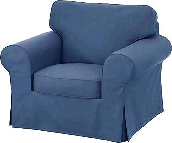 Amazon.com: Funda de repuesto para silla Ektorp de algodón ...