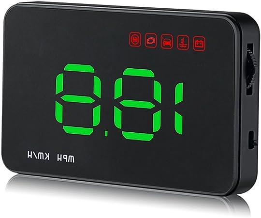 Kkmoon 3 5 Auto Hud Head Up Display Mit Obd Obdii Schnittstelle Plug Play Km H Mph Geschwindigkeit Warnung Wassertemperatur Spannung Kilometer Auto