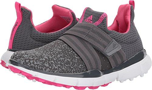adidas Women's Climacool Knit Golf Shoe, Grey/Shock Pink, 9.5 M US