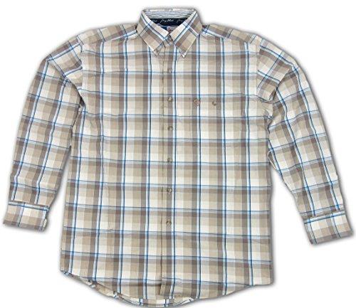 - Wrangler George Strait Men's Plaid Shirt Tan Medium