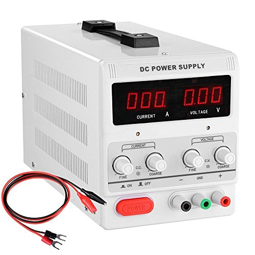 30vdc Output (Yescom 110V Input 30V 5A Output Precision Variable Digital DC Power Supply with Alligator Test Lead Set)