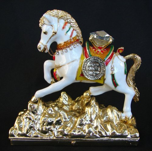 (Bejeweled White Windhorse Stepping on Mountain)