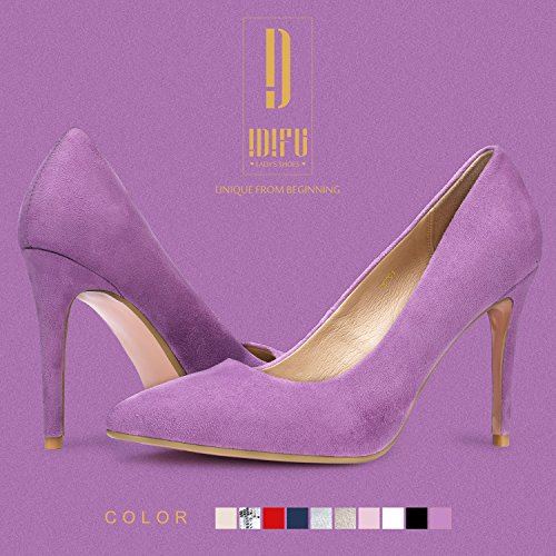 IDIFU Women's IN4 Classic Pointed Toe High Heels Pumps Wedding Dress Office Shoes