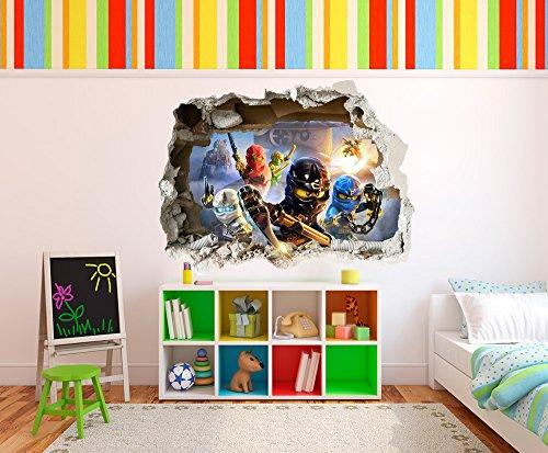 LEGO 3D WALL STICKER Ninjago Smashed Wall decor   Model: LWN 74cm x ...