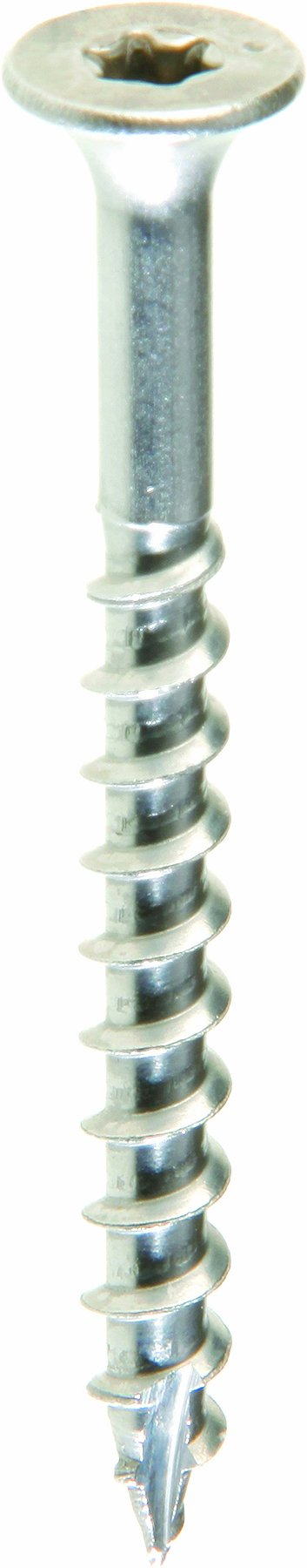 Grip Rite Prime Guard MAXS62714 Type 17 Point Deck Screw Number 10 by 3-Inch T25 Star Drive, Stainless Steel, 5-Pound Tub by Grip Rite Prime Guard
