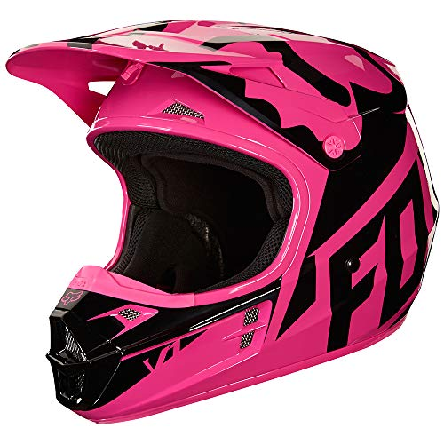 (2018 Fox Racing V1 Race Helmet-Pink-M )