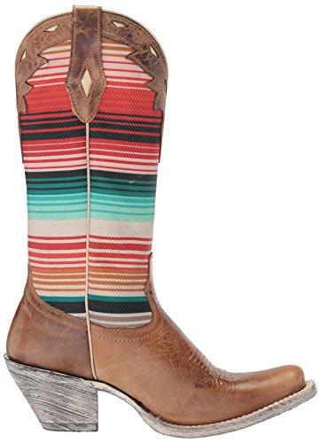 Ariat Kvinners Krets Cheyenne Western Cowboy Boot, Ranch Tan, 9 B Oss Spraket Tan / Sørvest Serape
