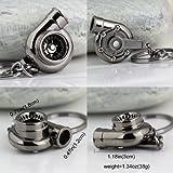 nabati? Creative Spinning Turbo Schlüsselanhänger Fashion Auto Teil Modell Auto Fan 's Favorite Turbine Turbolader Schlüsselanhänger Ring Schlüsselanhänger (schwarz)