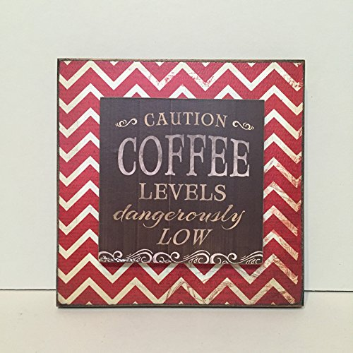 coffee-sign-rustic-wood-block-for-kitchen-home-wall-decor-caution-coffee-levels-dangerously-low-funn